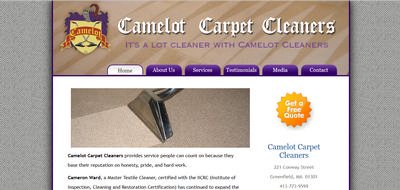 Camelot Carpet Cleaners, Greenfield, MA